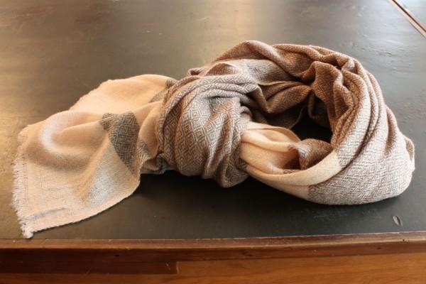 Schal aus Kaschmir/Wolle gewebt