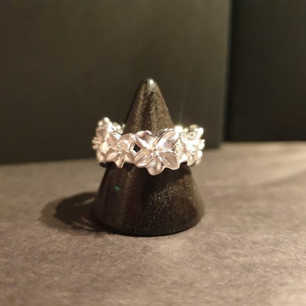 Blümchen Ring 925 Sterling-Silber