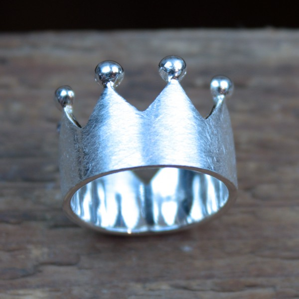 Krönchen-Ring 925 Sterling-Silber
