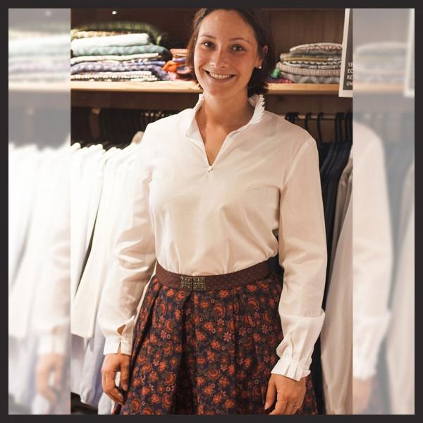 Rockmacherin - Bluse Magda in Weiß mit Rock Münter