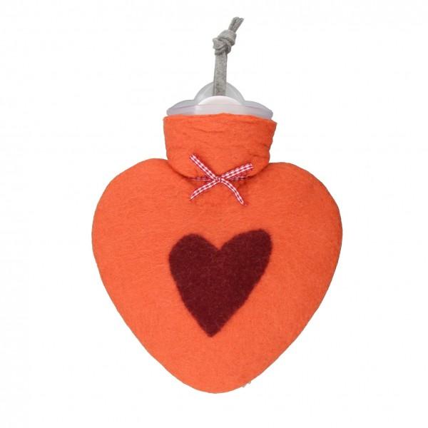 Wärmflasche mit Herz