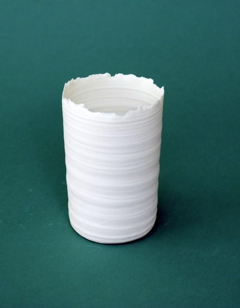 Porzellan-Vase / -Windlicht 'S'